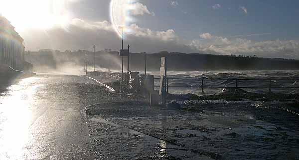 Storm pounding Marine Terrace