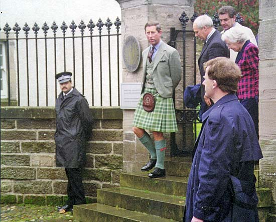 Prince Charles at the Courthouse Museum