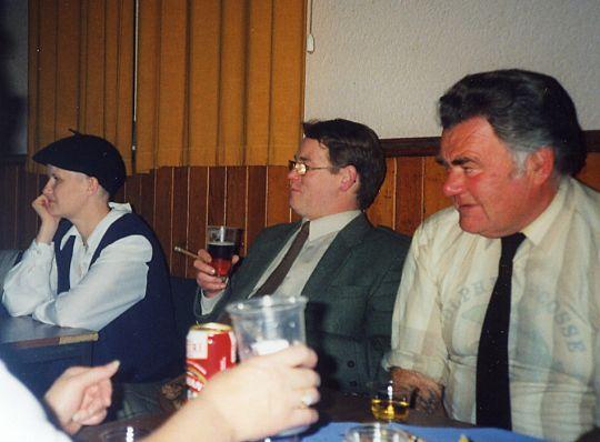 Lesley, Roger Gibson & 'Buller' Mackay