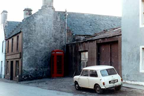 Old shop and Phonebox in Church Street