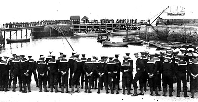 Sailor's Funeral at the Harbour - c1900??
