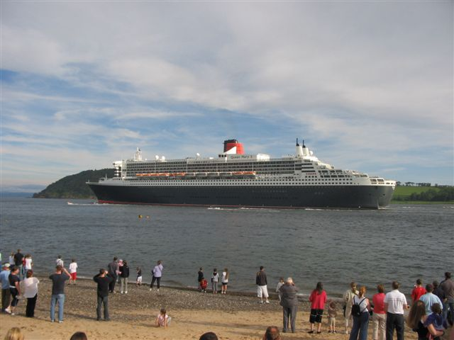 View of QM2 from Nigg