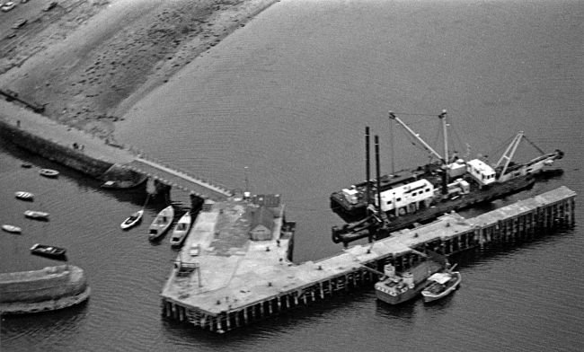 Aerial view of Harbour - 1972