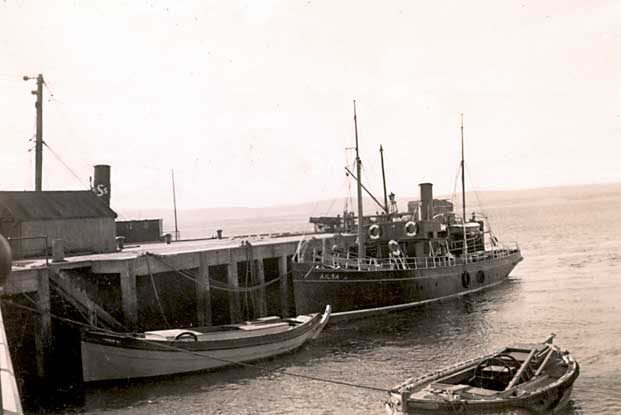 The Ailsa at end of harbour