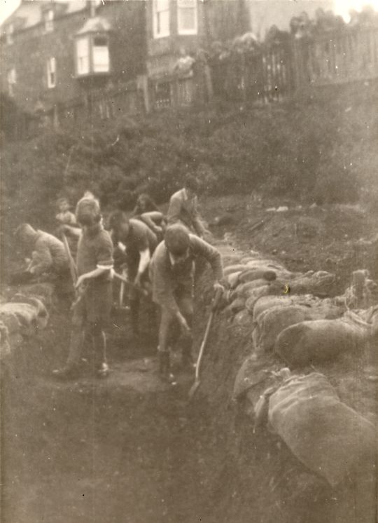 Digging Trenches on Braehead