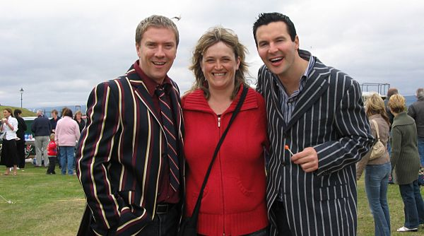 Colin & Justin with Marion Graham.