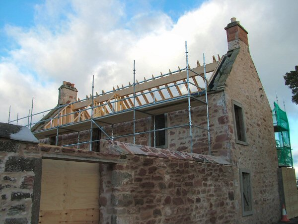 Half a roof on Barkly House