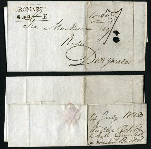 Letter sent from Cromarty - 1820