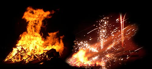 Bonfire and Catherine wheel at Cromarty