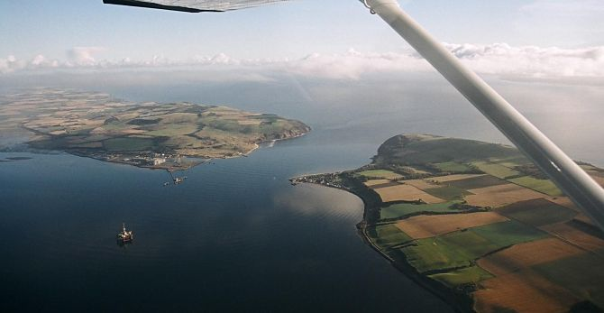 Aerial View of the mouth of the Firth