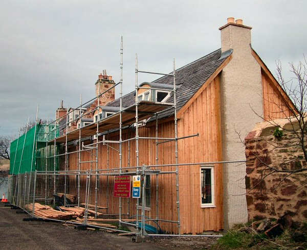 The extension to Barkley House nears completion