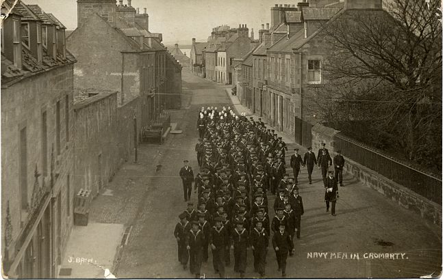 Navy Men marching down the High Street