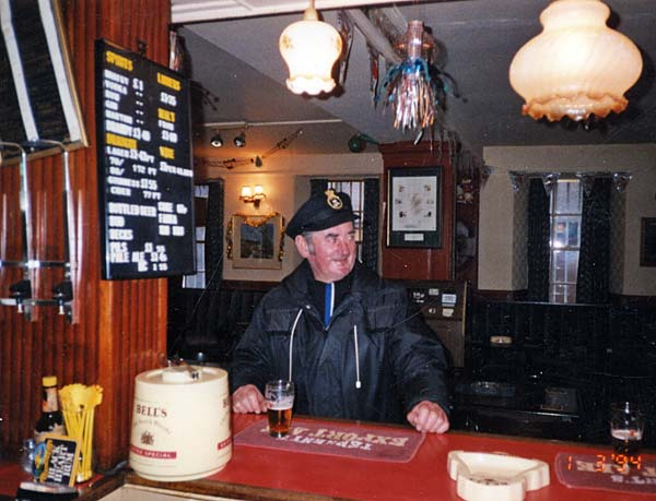 Ronnie Hendry, Harbourmaster, in the Cromarty Arms