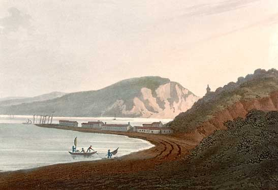 Painting of Cromarty from the West