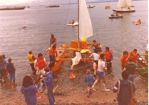 Hamish Stewart's Raft  - c1980