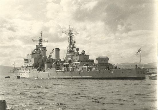 HMS Lion in the Firth - Sept 1960