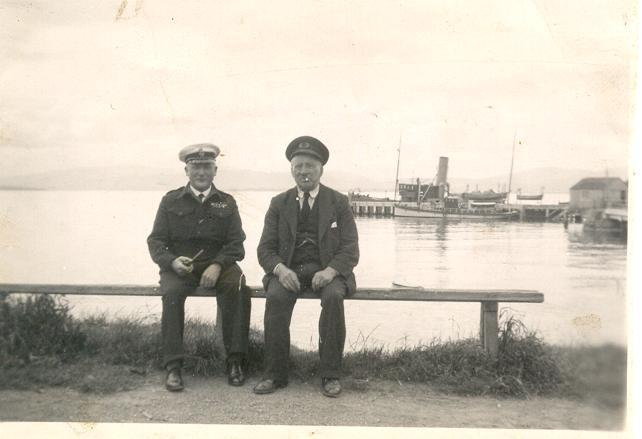 Dan Ross & Ship's Captain - c1938