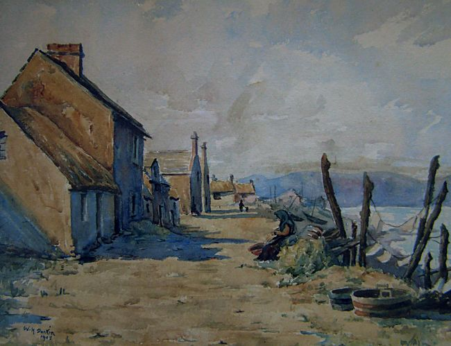 Shore St in Watercolour - c1905