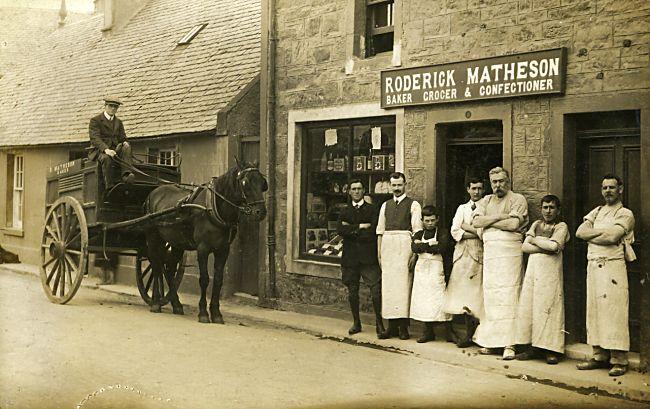 Matheson's Shop - Baker, Grocer & Confectioner