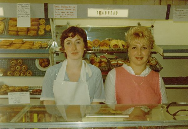 Anne & Catherine Matheson in the Bakery - c1980