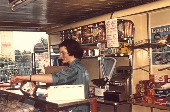 Margaret Ritchie in the Bakery - c1978