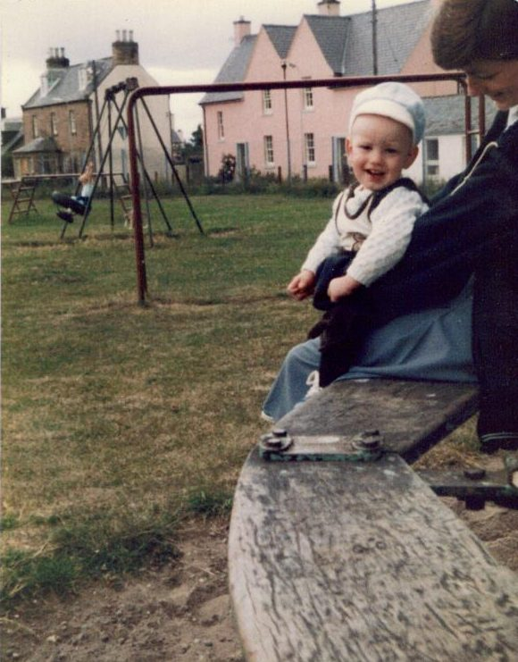 Gillian & Callum Wilson in the park - 1983