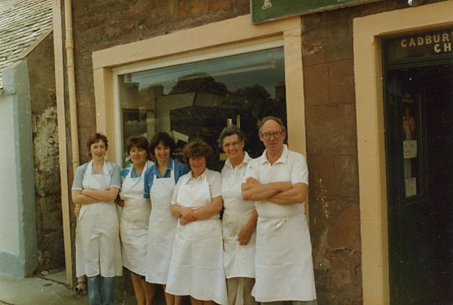 Cromarty Bakery Staff - 1983