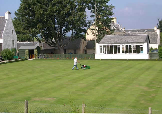 Mowing the Bowling Green - 2006
