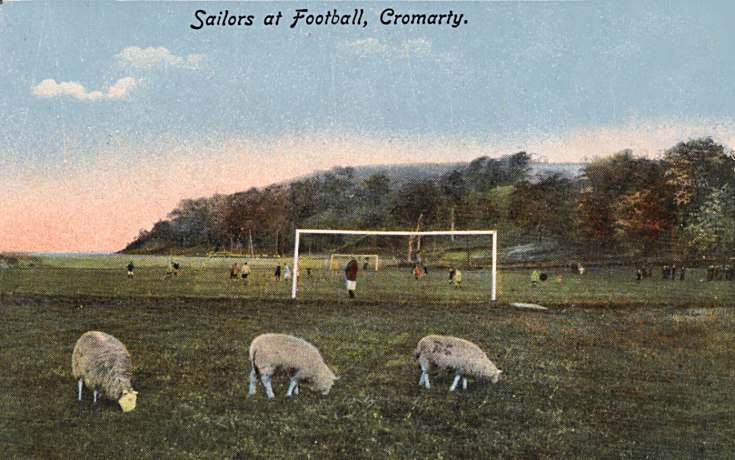 Sailors at Football, Cromarty - c1910
