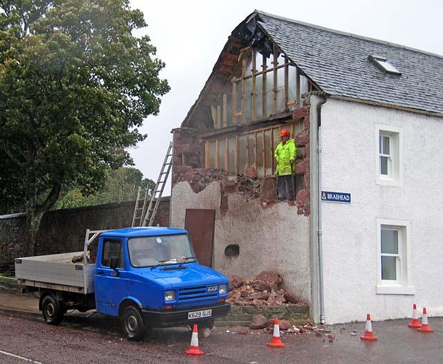 No.1 Braehead gable demolished