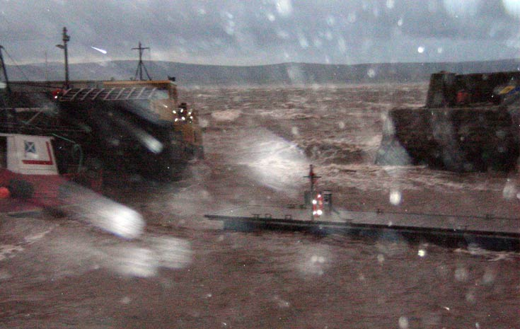 Storm at Cromarty Harbour