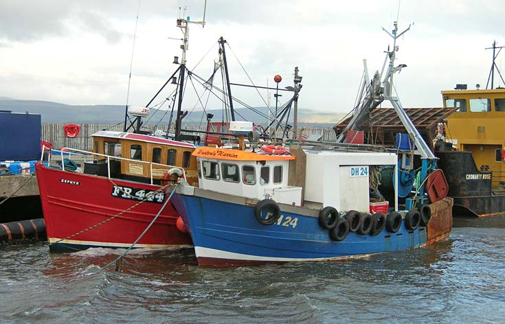 Fishing Boats in Cromarty Harbour