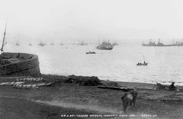 Battleships entering the Firth