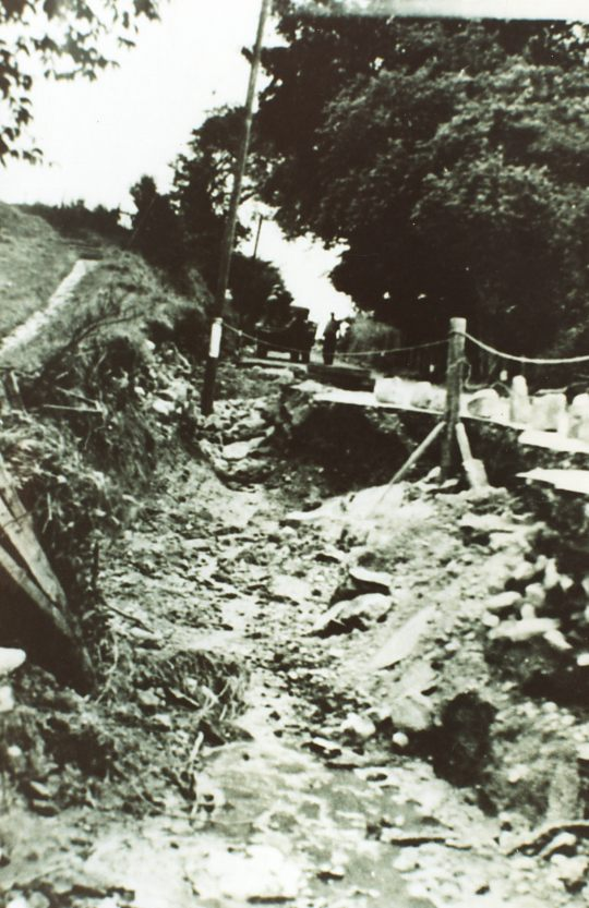 Flooding damage on the Denny - 1940