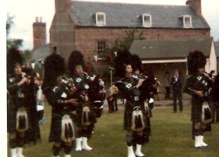 Pipe band in the Park - c1975???