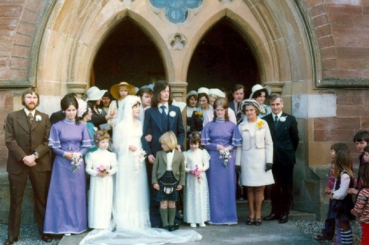 Wedding of Caroline and Ian - 1975