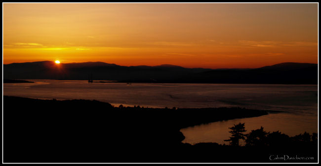The Firth and Cromarty under a setting sun