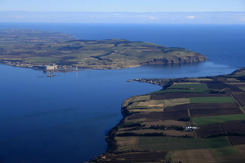 Aerial pic of Cromarty and Nigg