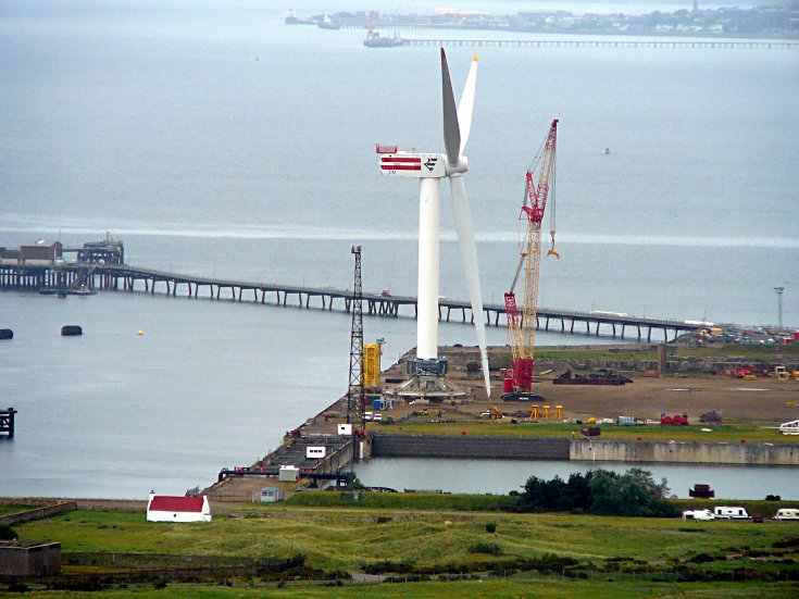 Second Beatrice turbine with blade safely attached
