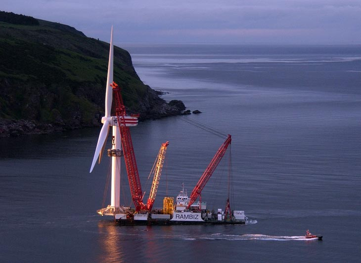Second Talisman turbine leaves Cromarty Firth on Rambiz Crane Barge
