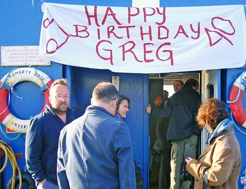 Gathering on Cromarty Rose for Greg's Birthday