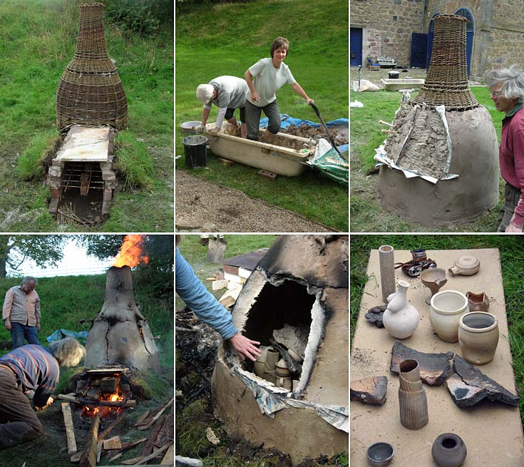 Scottish Potters - Basket Kiln Construction