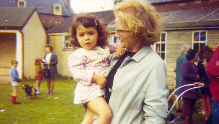Mrs Bain and grand-daughter Kim