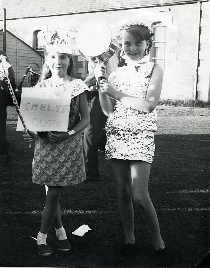 Cynthia and Margaret - Fancy dress - c1968
