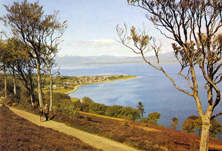 Postcard of view from South Sutor over Cromarty