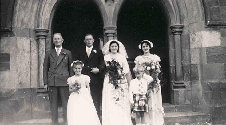 Florence Gilles' Wedding - c1945