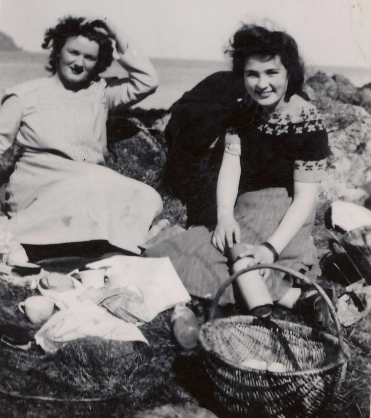 Picnic on the Rocks - c1945