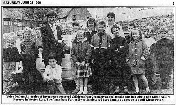 Cromarty Primary School Children