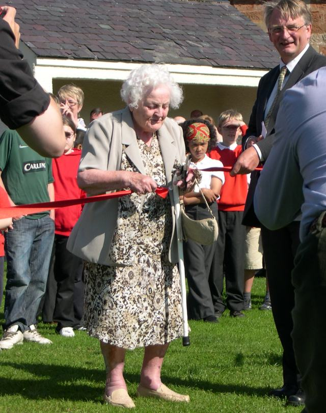Mrs Newell opening the Pensioner's Playground