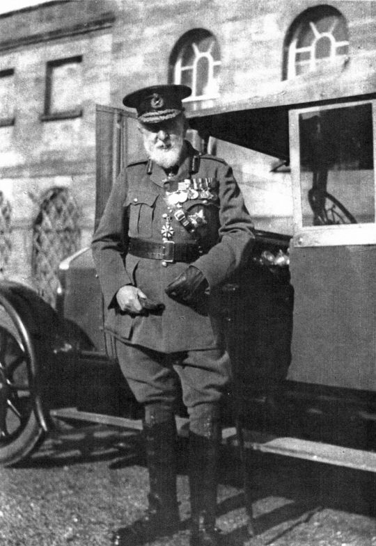 General Ross outside Cromarty House - c1927